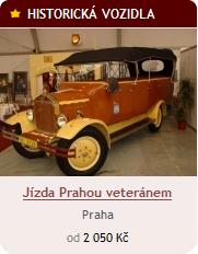 Jízda historickým vozidlem v Praze