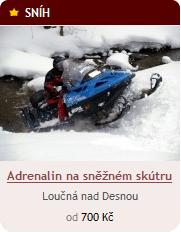 Jízda na sněžném skútru