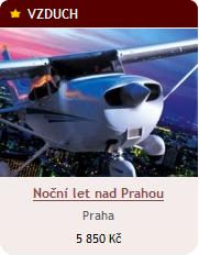 Noční let nad Prahou