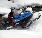 Vánoce - adrenalin na sněžném skútru