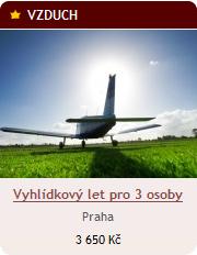 Vyhlídkový let pro 3 osoby v Praze